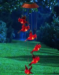 cardinal home decor amazon com garden days cardinal solar mobile wind chime cell