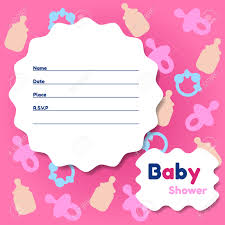 Invitation Card Sample Wording Template Baby Shower Invitations Card For Girls