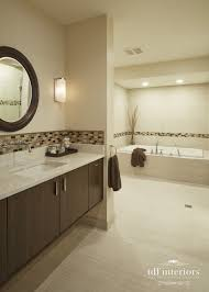contemporary style bathroom design in neutral colors on chicago