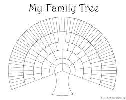 printable free family tree template blank family tree template genealogy pinterest blank family