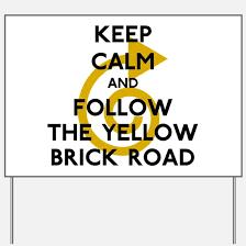 follow the yellow brick road yard signs custom yard lawn signs