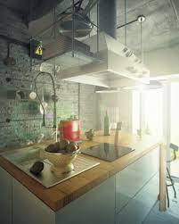 apartment industrial decoration style on modern kitchen design