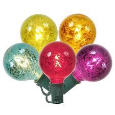 set of 10 multi color mercury glass g50 globe christmas lights