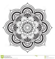 cool mandala lotus tattoo stencil