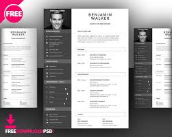 psd resume template clean resume template free psd freedownloadpsd