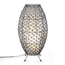 Grandes Lampes De Salon by Lampe En Rotin Noir Blanc H52cm Gris Gaia Les Lampes à Poser