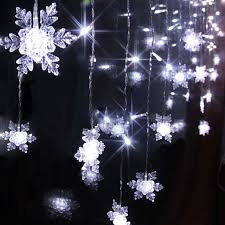 snowflake lights 3 5m 96leds 16snows snowflake led string curtain lights
