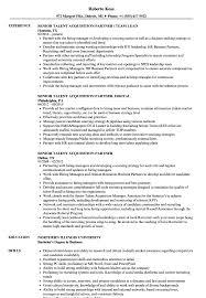 good resume for accounts manager job in chakan midc senior talent acquisition partner resume sles velvet jobs