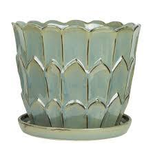 pennington 12 in ceramic artichoke planter 100523133 the home depot