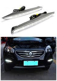 renault koleos 2013 12v car styling led drl front bumper fog lamp case daytime running