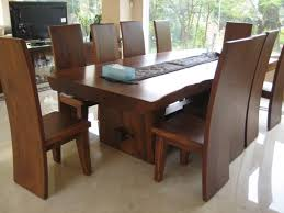 Slab Dining Room Table Plain Decoration Solid Wood Dining Tables Homey Ideas Solid Wood