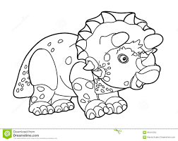 cartoon dinosaur coloring page stock illustration image 56441254