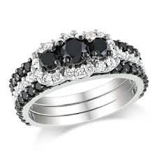 black diamond bridal set black diamond rings zales wedding promise diamond engagement