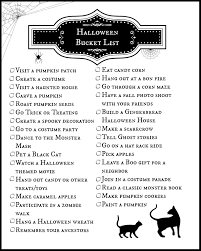halloween bucket list printable living a sunshine life