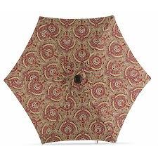 Garden Treasures Patio Umbrella Base by Shop Garden Treasures Red Paisley Market Patio Umbrella Common