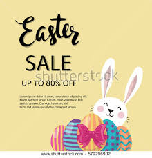 rabbit poster easter poster stock images royalty free images vectors