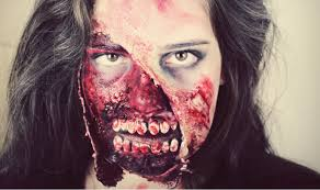 gory zombie halloween makeup tutorial youtube