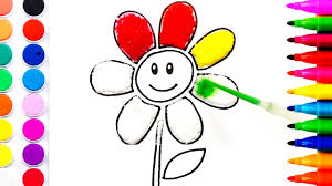flower coloring pages salt painting for kids fun art learning