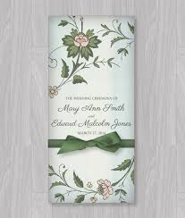 folded wedding program template watercolor flowers tri fold program template print