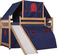 Bunk Bed With Tent Loft Bed Tent White Bed