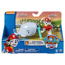amazon com paw patrol marshall and baby whale rescue set toys