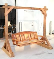 Pergola Swing Set Plans by This 5 Ft Porch Swing Is Made Of Acq Pressure Treated Lumber