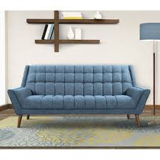 Blue Modern Sofa Corrigan Studio Demesne Mid Century Modern Sofa Reviews Wayfair