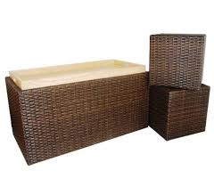 Wicker Storage Bench Indoor Outdoor Wicker Bench Designs For Natural Looking Decor