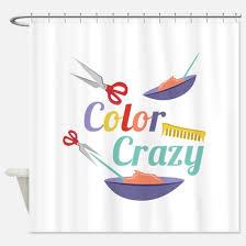 Crazy Shower Curtains Hair Dresser Shower Curtains Hair Dresser Fabric Shower Curtain