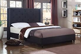 Headboard For Platform Bed Home Premiere Classics Cloth Black Linen 51