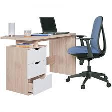 bureau couleur bureau samo 120x53 cm en bois de couleur chêne sonoma et blanc