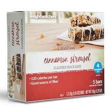 snack bar cuisine cinnamon streusel snack bar weightwatchers com store