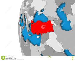 Turkey On World Map by Turkey On Globe Stock Illustration Image 81902689