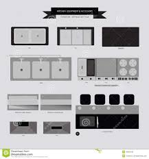 Kitchen Furniture Accessories Silhouettes Of Kitchen Accessories Stock Photography Image 33530702