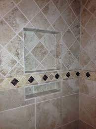 Border Tiles For Bathroom Tile Pattern Change Upper Tile Diamond Pattern Lower Straight