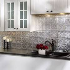 kitchen backsplash panels fasade monaco crosshatch silver backsplash panel 1 sheet sle 6