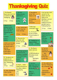 thanksgiving quiz worksheet free esl printable worksheets made