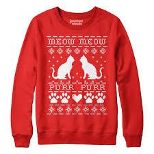 meow crazy cat mens u0026 women u0027s ugly christmas sweater funny jumper