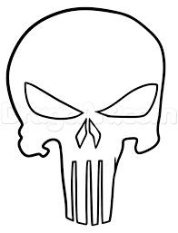 punisher tattoo drawing tutorial step by step marvel characters