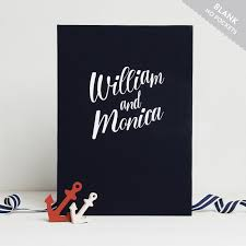 nautical photo album wedding guest book album nautical with white lettering empty