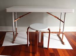 Folding Legs For Table Upcycle A Plastic Folding Desk Into A Chic Desk How Tos Diy
