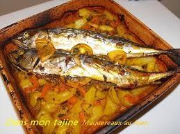 cuisiner le maquereau au four poissons au four dans mon tajine