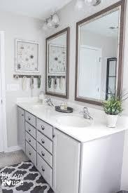 builder grade master bathroom budget makeover builder grade to rustic