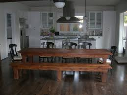 Big Wood Dining Table Awesome Large Dining Table With Bench Design Ideas Or Other Home