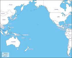 Oceans Map Pacific Ocean Free Map Free Blank Map Free Outline Map Free