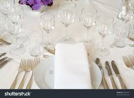 fine dining table set up home