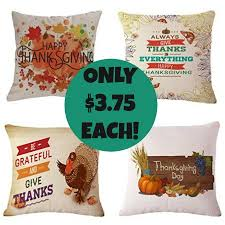 set of 4 thanksgiving pillow covers only 14 99 shipped just