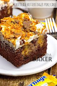 chocolate butterfinger poke cake recipe best poke cakes and