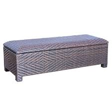 Patio Storage Ottoman Santiago Wicker Patio Storage Ottoman Brown Christopher