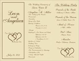 tri fold wedding program template wordings e9f6e3eae60036c232edb60bb3e18b5d trifold wedding